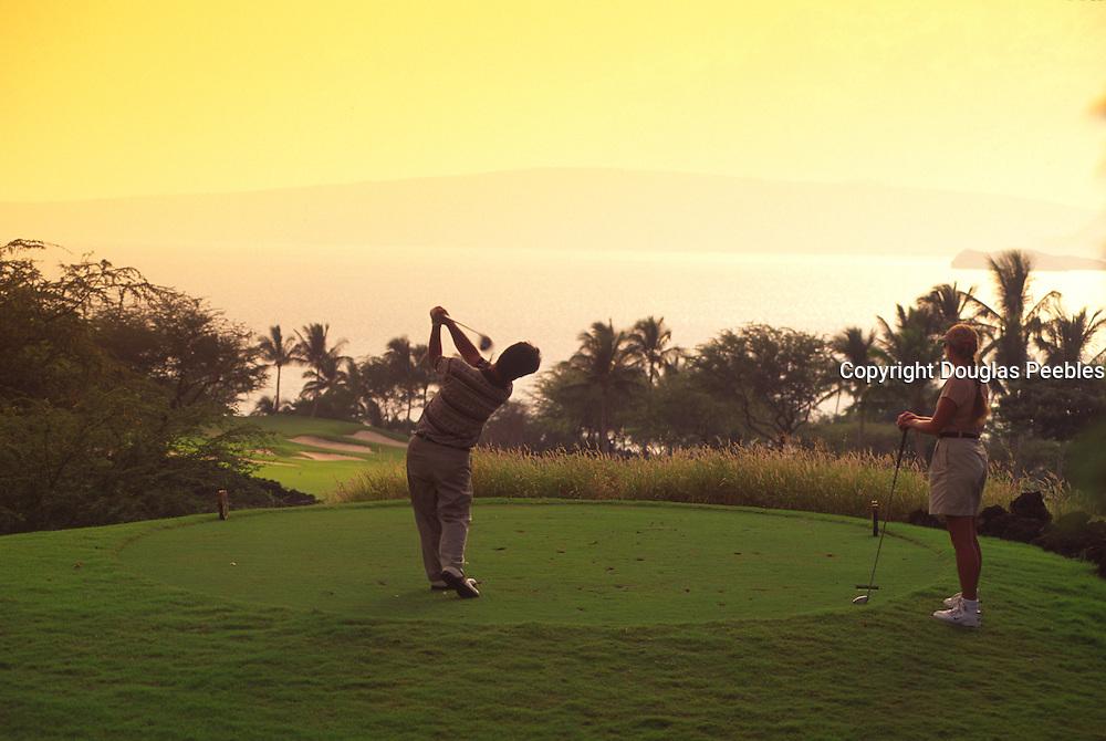 Golfing, Wailea Emerald Course, Hawaii, USA<br />