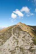 The trail down from Vrh Bora, Peaks of the Balkans trail, Montenegro © Rudolf Abraham