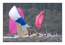 Brewin Dolphin Scottish Series 2011, Tarbert Loch Fyne - Yachting - Day 2 of the 4 day series. Windy!..GBR9740R ,Sloop John T ,Iain & Graham Thomson ,CCC ,Swan 40..