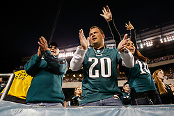 Philadelphia Eagles fans cheer from the stands before the NFL football game between the New York Giants and the Philadelphia Eagles on Sunday, September 30th 2012 in Philadelphia. The Eagles won 19-17. (Photo by Brian Garfinkel)