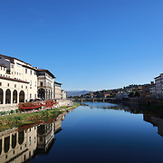FLORENCE, ITALY - NOVEMBER 01: The River Arno running through the city of Florence, Italy, 1st November 2017. Photo by Tim Clayton/Corbis via Getty Images)
