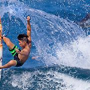 Oahu, Hawaii.  North Shore surfing.