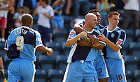Photo: Alan Crowhurst.<br />Wycombe Wanderers v Wrexham. Coca Cola League 2.<br />05/08/2006. Wycombe celebrate Tommy Mooney's goal.