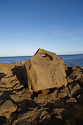 Canoe anchor rock, South Point, Southernmost point in the United States, Island of Hawaii