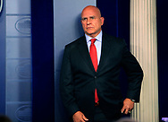 National Security Advisor General H.R. McMaster at a briefing in the White House Press Briefing Room on July 31, 2017<br />Photo by Dennis Brack