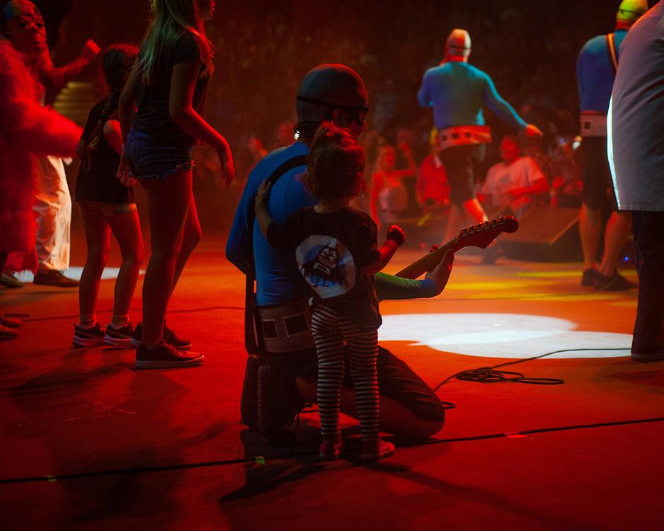 Eaglebones Falconhawk of The Aquabats! performing at Pacific Amphitheatre August 14, 2021. (Photo by Miguel Vasconcellos, OC Fair & Event Center)