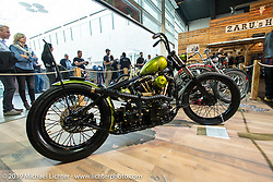 Simon and Dominic Loretter's FW Factory Austria's custom Shovelhead that received first place in the American Custom in the Swiss-Moto Customizing and Tuning Show. Zurich, Switzerland. Saturday, February 23, 2019. Photography ©2019 Michael Lichter.
