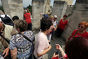 tourism on top the outlook tower of Le Palais des Papes Avignon