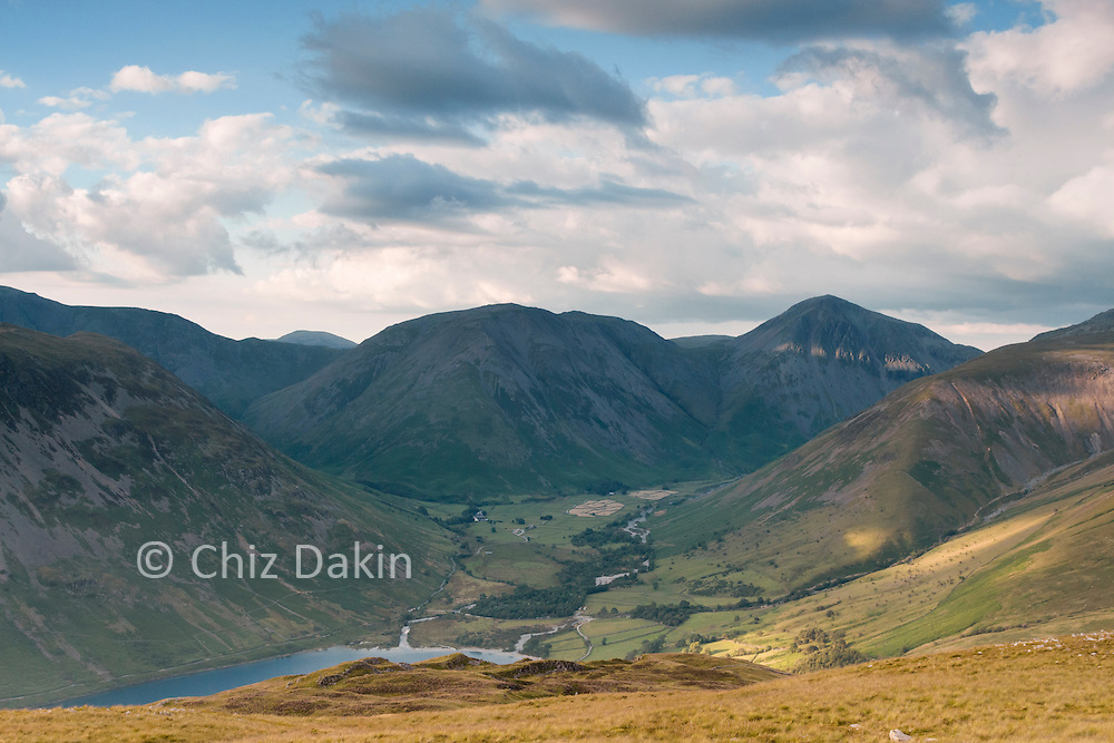 You can see the head of Wastwater from the descent slopes of Illgill Head