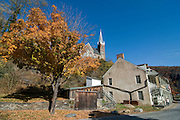 Harpers Ferry with church in autumn. Maryland. United States of America.