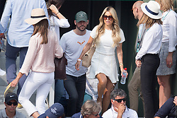 Sylvie Meis and her new boyfriend support Rafael Nadal in stand during French Tennis Open at Roland-Garros arena on June 10, 2018 in Paris, France. Photo by Nasser Berzane/ABACAPRESS.COM