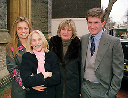 Left to right, LADY KATHARINE HOWARD, LADY NATASHA HOWARD, the COUNTESS OF SUFFOLK & BERKSHIRE and the HON.PEREGRINE HOOD,  at a wedding in London on 4th February 2000.OAT 40
