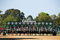 HOT SPRINGS, AR - MAY 02:  The start of the 10th race at Oaklawn Racing Casino Resort on Derby Day during the Covid-19 Pandemic on May 2, 2020 in Hot Springs, Arkansas. (Photo by Wesley Hitt/Getty Images)