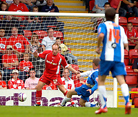 Photo: Ed Godden/Sportsbeat Images.<br /> Leyton Orient v Hartlepool United. Coca Cola League 1. 22/09/2007. Ian Moore scores for Hartlepool.