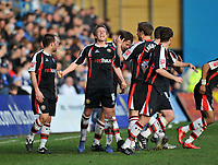 Photo: Tony Oudot/Richard Lane Photography. Gillingham v Shrewsbury Town. Coca-Cola Football League Two. 28/02/2009. <br /> GOAL! Shrewsbury and Terry Dunfield (6) celebrate Grant Holts last minute equaliser