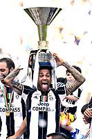 Dani Alves<br /> Esultanza Juventus Campione d'Italia . Celebration Juventus Italian championship winner <br />  Torino 21-05-2017 Juventus Stadium Football Calcio Serie A 2016/2017 Juventus - Crotone .<br /> Foto Image Sport / Insidefoto