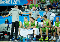 Jure Zdovc, head coach of Slovenia during basketball match between Slovenia and Georgia at Day 2 in Group C of FIBA Europe Eurobasket 2015, on September 6, 2015, in Arena Zagreb, Croatia. Photo by Vid Ponikvar / Sportida