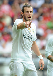 04.08.2015, Allianz Arena, Muenchen, GER, AUDI CUP, Real Madrid vs Tottenham Hotspur, im Bild Gareth Bale (Real Madrid) // during the 2015 Audi Cup Match between Real Madrid and Tottenham Hotspur at the Allianz Arena in Muenchen, Germany on 2015/08/04. EXPA Pictures © 2015, PhotoCredit: EXPA/ Eibner-Pressefoto/ Stuetzle<br /> <br /> *****ATTENTION - OUT of GER*****
