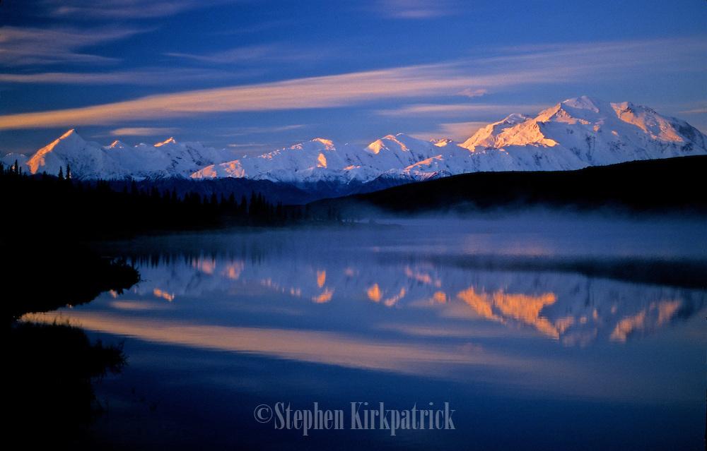 Foggy Morning Reflections - Wonder Lake, Denali N.P., Alask