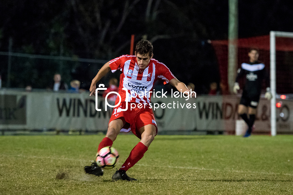 BRISBANE, AUSTRALIA - June 9:  during the Round 7 Westfield FFA Cup match between Olympic FC and Moreton Bay United on June 9, 2016 in Brisbane, Australia. (Photo by Patrick Leigh Kearney)