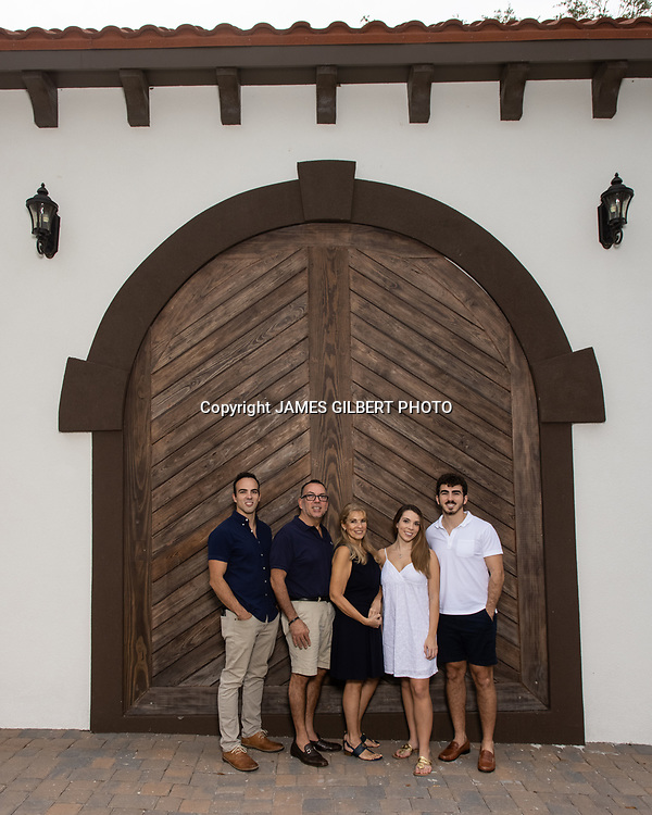 The Carames Family poses for a family portrait on Saturday, November 28, 2020 at Mission Nombre de Dios in Saint Augustine Florida. Copyright 2020 James Gilbert Photo