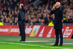 13-03-2019 NED: Ajax - PEC Zwolle, Amsterdam<br /> Ajax has booked an oppressive victory over PEC Zwolle without entertaining the public 2-1 / Coach Erik ten Hag of Ajax
