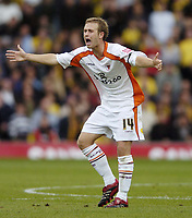 Photo: Jonathan Butler.<br /> Watford v Blackpool. Coca Cola Championship. 29/09/2007.<br /> David Fox of Blackpool.