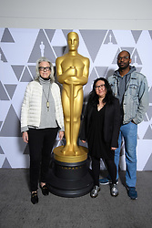 """Joslyn Barnes, Su Kim and RaMell Ross, of the Oscar® nominated documentary feature """"Hale County This Morning, This Evening"""" prior to the Academy of Motion Picture Arts and Sciences' """"Oscar Week: Documentaries"""" event on Tuesday, February 19, 2019 at the Samuel Goldwyn Theater in Beverly Hills. The Oscars® will be presented on Sunday, February 24, 2019, at the Dolby Theatre® in Hollywood, CA and televised live by the ABC Television Network."""