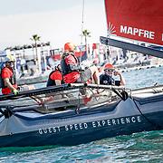 Los M32 gran novedad para las ProAm de la Volvo Ocean Race. The M32 the novelty for the ProAm races in the Volvo Ocean Race.