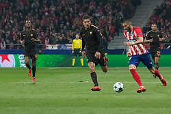 November 22, 2017 - Madrid, Madrid, Spain - Carrasco (R) whit the ball..during Atletico de Madrid won by 2 to 0 whit goals of Griezmann and Gameiro against Roma. (Credit Image: © Jorge Gonzalez/Pacific Press via ZUMA Wire)