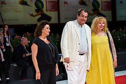 Bruno Raffaelli, Yolande Moreau, Noemie Lvovsky walk the red carpet ahead of Les Estivants (The Summer House) screening during the 75th Venice Film Festival at Sala Grande on September 5, 2018 in Venice, Italy. Photo by Marco Piovanotto/ABACAPRESS.COM