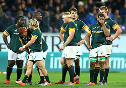 November 19, 2016 - Rome, Italy - The delusion of South Africa players  during the international match between Italy v South Africa at Stadio Olimpico on November 19, 2016 in Rome, Italy. (Credit Image: © Matteo Ciambelli/NurPhoto via ZUMA Press)