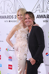 AU_1417362 - Sydney, AUSTRALIA  -  SYDNEY, AUSTRALIA - NOVEMBER 28: Keith Urban and Nicole Kidman Arrive together at The Aria Award at The Star on November 28, 2018 in Sydney, Australia.<br />