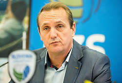 Metod Ropret, president of OZS during press conference of Slovenian Volleyball Federation before FIVB Volleyball World League tournament in Ljubljana, on May 5, 2016 in Hotel Spik, Gozd Martuljek, Slovenia. Photo by Vid Ponikvar / Sportida