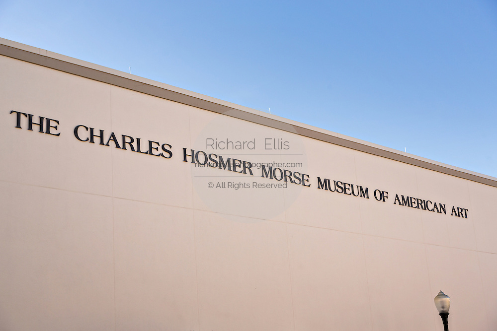 The Charles Hosmer Morse Museum in historic downtown Winter Park, Florida.