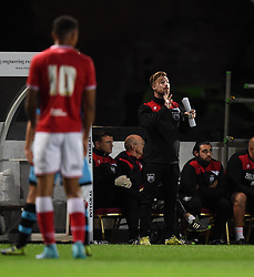 Wade Elliott, manager of the U21 squad, directs his players from the touch time - Mandatory by-line: Paul Knight/JMP - Mobile: 07966 386802 - 12/10/2015 -  FOOTBALL - Ashton Gate Stadium - Bristol, England -  Bristol City U21 v Sheffield Wednesday U21 - Professional Development League