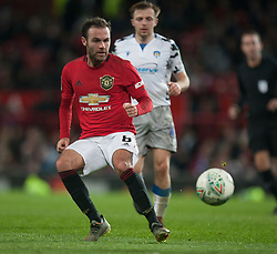 Juan Mata of Manchester United in action - Mandatory by-line: Jack Phillips/JMP - 18/12/2019 - FOOTBALL - Old Trafford - Manchester, England - Manchester United v Colchester United - English League Cup Quarter Final
