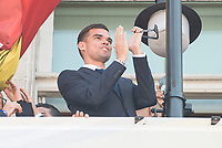 Real Madrid's Pepe on the balcony of the Seat of government greeting the fans in Madrid, May 22, 2017. Spain.<br /> (ALTERPHOTOS/BorjaB.Hojas)