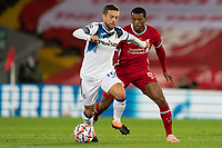 Football - 2020 / 2021 Champions League - Group D - Liverpool vs Atalanta - Anfield<br /> <br /> <br /> Atalanta's Alejandro Gomez under pressure from Liverpool's Georginio Wijnaldum<br /> <br /> <br /> COLORSPORT/TERRY DONNELLY