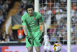 May 9, 2019 - Valencia, Valencia, Spain - Petr Cech of Arsenal in action during UEFA Europa League football match, between Valencia and Arsenal, May 09th, in Mestalla stadium in Valencia, Spain. (Credit Image: © AFP7 via ZUMA Wire)