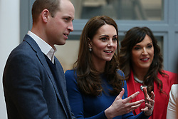 The Duke and Duchess of Cambridge during their visit to the Braids Arts Centre in Ballymena to see the workings of the CineMagic charity as part of their two day visit to Northern Ireland.
