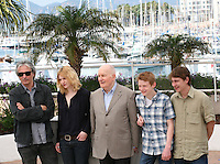 Gilles Bourdos, Christa Theret, Michel Bouquet, Thomas Doret,  Vincent Rottiers at the at the Renoir photocall at the 65th Cannes Film Festival France. Saturday 26th May 2012 in Cannes Film Festival, France.