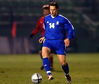 Fotball<br /> Privatlandskamp<br /> Hellas v Bulgaria<br /> 18. februar 2004<br /> Foto: Digitalsport<br /> Norway Only<br /> <br /> PANTELIS KAFES (GRE) *** Local Caption *** 40001060