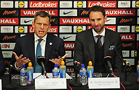 Football - 2016 / 2017 season - new England manager Gareth Southgate, first press conference<br /> <br /> England manager Gareth Southgate and Chief executive Martin Glenn speak to the press, at Wembley.<br /> <br /> COLORSPORT/ANDREW COWIE