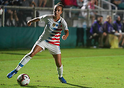 October 11, 2018 - Cary, North Carolina, United States - CARY, NC - OCTOBER 10: .Mallory Pugh of USA.During CONCACAF Women's Championship Group A match between Trinidad and Tobago against USA at Sahlen's Stadium, Cary, North Carolina. on October 10, 2018  (Credit Image: © Action Foto Sport/NurPhoto via ZUMA Press)