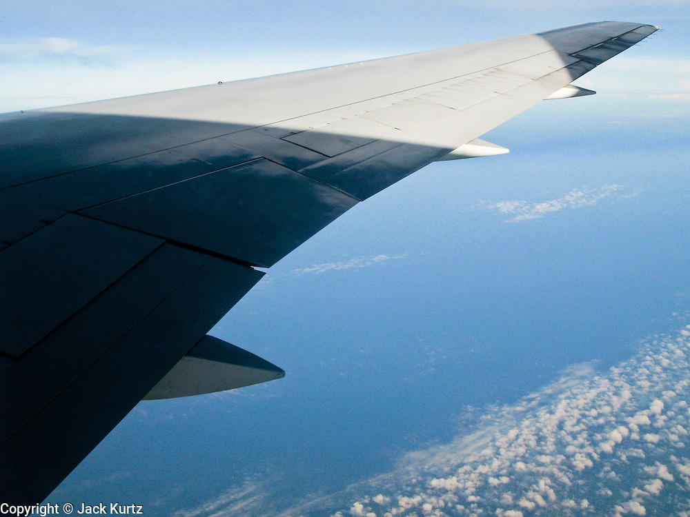 27 JULY 2007 -- PHILADELPHIA, PA: The wing of a US Airways flight from Philadelphia, PA to Zurich, Switzerland. The aircraft is an Boeing 767.  PHOTO BY JACK KURTZ