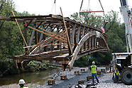 Dreibelbis Station Bridge in Kutztown Moved for Rennovations on Sept. 4, 2019