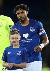Everton's Ashley Williams wearing a Bradley Lowery Foundation sponsored shirt during the Carabao Cup, Third Round match at Goodison Park, Liverpool.