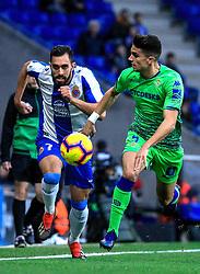 16 th, December  2018, RCDE Stadium, Cornellà, Spain. ..La Liga, partido entre el RCD Espanyol y el Real Betis Balompié...Marc Bartra (5) y Borja Iglesias (7)...El partido ha finalizado (1-3) , con derrota del Espanyol en casa...© Joan Gosa 2018/Xinhua 2018. (Credit Image: © Joan Gosa/Xinhua via ZUMA Wire)