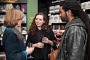 CLARE LATIMER; PETA LEITH; RICHARD BOATENG, Relish: My Life on a Plate by Prue Leith. Hatchards. Piccadilly, London. 14 March 2012.